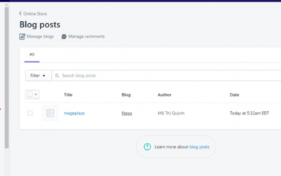 Steps by step guide to apply template to shopify store
